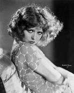 Clara Bow - Clara Bow sitting Pose in Floral Shirt Classic Portrait- Photograph Print