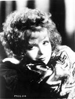 Clara Bow - Clara Bow Looking Away in Close Up Portrait
