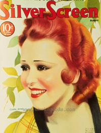 Clara Bow - 11 x 17 Silver Screen Magazine Cover 1930's Style A