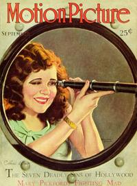 Clara Bow - 11 x 17 Motion Picture Magazine Cover 1930's Style A