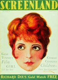 Clara Bow - 11 x 17 Screenland Magazine Cover 1920's Style B