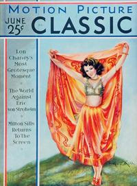 Clara Bow - 11 x 17 Motion Picture Classic Magazine Cover 1930's