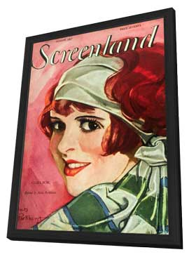 Clara Bow - 11 x 17 Screenland Magazine Cover 1920's Style A - in Deluxe Wood Frame
