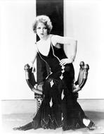 Clara Bow - Clara Bow Posed in Black Dress Portrait