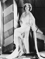 Clara Bow - Clara Bow Posed in White Dress with Hands on Hips