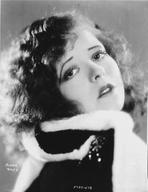 Clara Bow - Clara Bow in Fur Coat Close up Portrait