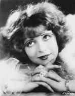 Clara Bow - Clara Bow Looking Up in Fur Dress with Diamond Ring