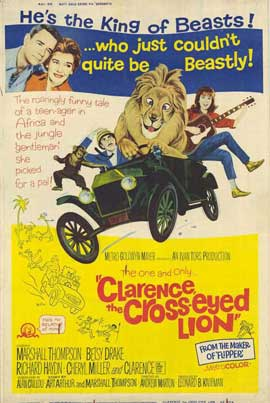 Clarence, the Cross-eyed Lion - 11 x 17 Movie Poster - Style A