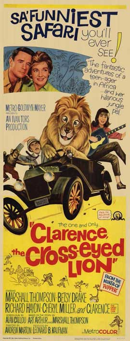 Clarence, the Cross-eyed Lion - 11 x 17 Movie Poster - Style B
