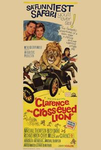 Clarence, the Cross-eyed Lion - 27 x 40 Movie Poster - Style B