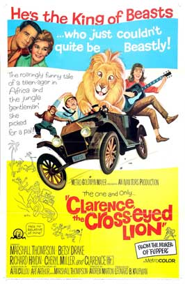 Clarence, the Cross-eyed Lion - 11 x 17 Movie Poster - Style C