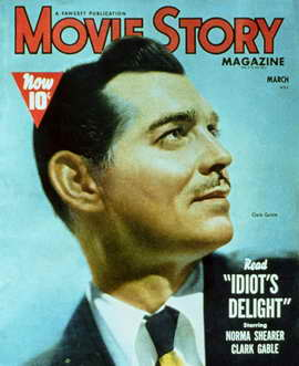 Clark Gable - 11 x 17 Movie Story Magazine Cover 1940's