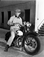 Clark Gable - Clark Gable On A Motorcycle