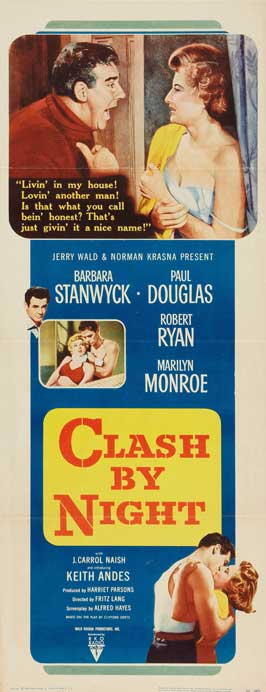 Clash by Night - 14 x 36 Movie Poster - Insert Style A