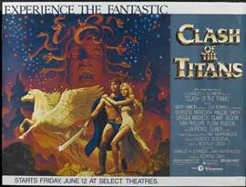 Clash of the Titans - 22 x 28 Movie Poster - Half Sheet Style A