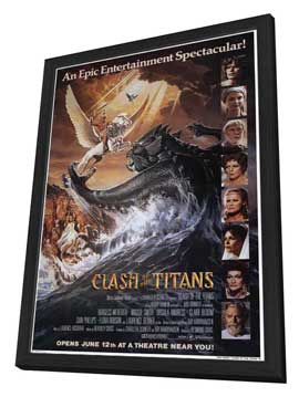 Clash of the Titans - 27 x 40 Movie Poster - Style B - in Deluxe Wood Frame