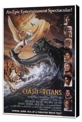 Clash of the Titans - 27 x 40 Movie Poster - Style B - Museum Wrapped Canvas