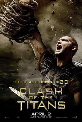 Clash of the Titans - 43 x 62 Movie Poster - Bus Shelter Style B