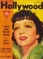 Claudette Colbert - 11 x 17 Hollywood Magazine Cover 1940's Style A