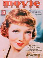 Claudette Colbert - 11 x 17 Movie Mirror Magazine Cover 1930's Style B