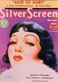 Claudette Colbert - 11 x 17 Silver Screen Magazine Cover 1930's Style B