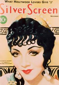 Claudette Colbert - 11 x 17 Silver Screen Magazine Cover 1930's Style C