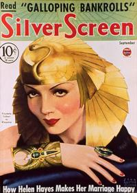 Claudette Colbert - 11 x 17 Silver Screen Magazine Cover 1930's Style D
