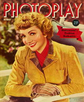 Claudette Colbert - 11 x 17 Photoplay Magazine Cover 1930's Style A