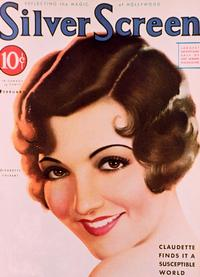 Claudette Colbert - 11 x 17 Modern Screen Magazine Cover 1930's Style C