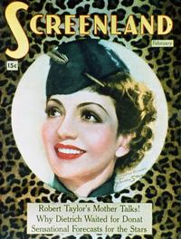 Claudette Colbert - 11 x 17 Screenland Magazine Cover 1930's Style A