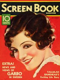 Claudette Colbert - 11 x 17 Screen Book Magazine Cover 1930's