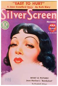 Claudette Colbert - 27 x 40 Movie Poster - Silver Screen Magazine Cover 1930's Style B