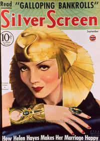 Claudette Colbert - 27 x 40 Movie Poster - Silver Screen Magazine Cover 1930's Style D