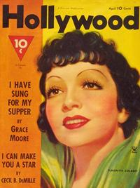 Claudette Colbert - 27 x 40 Movie Poster - Hollywood Magazine Cover 1940's Style A