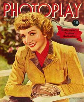 Claudette Colbert - 27 x 40 Movie Poster - Photoplay Magazine Cover 1930's Style A