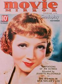Claudette Colbert - 27 x 40 Movie Poster - Movie Mirror Magazine Cover 1930's Style B