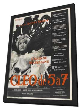 Cleo from 5 to 7 - 11 x 17 Movie Poster - French Style A - in Deluxe Wood Frame