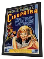 Cleopatra - 11 x 17 Movie Poster - Style A - in Deluxe Wood Frame