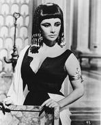 Cleopatra - Cleopatra Posed in Black Dress with White Robe