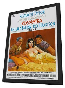 Cleopatra - 27 x 40 Movie Poster - Style E - in Deluxe Wood Frame