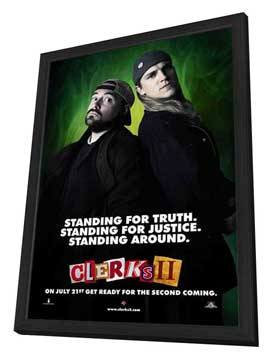 Clerks II - 27 x 40 Movie Poster - Style B - in Deluxe Wood Frame