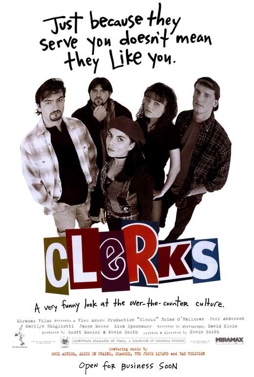 "Clerks Movie Poster ""I hate guys. I love women! Whatcha want Grizzly Adams."
