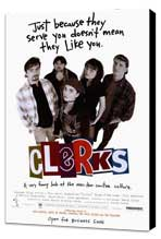Clerks - 27 x 40 Movie Poster - Style A - Museum Wrapped Canvas