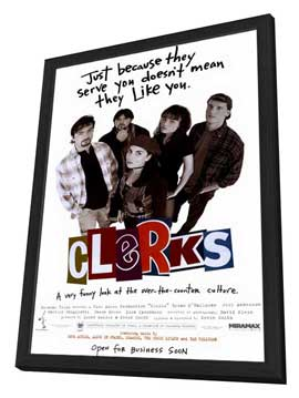 Clerks - 11 x 17 Movie Poster - Style A - in Deluxe Wood Frame