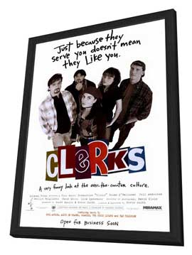 Clerks - 27 x 40 Movie Poster - Style A - in Deluxe Wood Frame