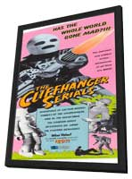 The Cliffhanger Serials - 11 x 17 Movie Poster - Style A - in Deluxe Wood Frame