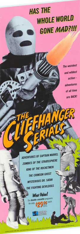 The Cliffhanger Serials - 27 x 40 Movie Poster - Style A