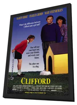 Clifford - 27 x 40 Movie Poster - Style A - in Deluxe Wood Frame