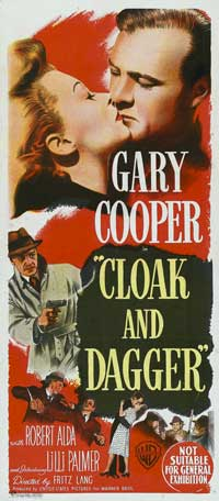 Cloak and Dagger - 13 x 30 Movie Poster - Australian Style A