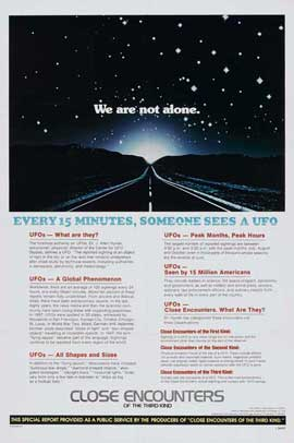 Close Encounters of the Third Kind - 27 x 40 Movie Poster - Style D